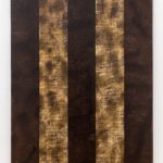 "Oil and spray paint on canvas 48""x36"" 2015"