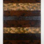 "Oil and spray paint on canvas 72""x50"" 2015"